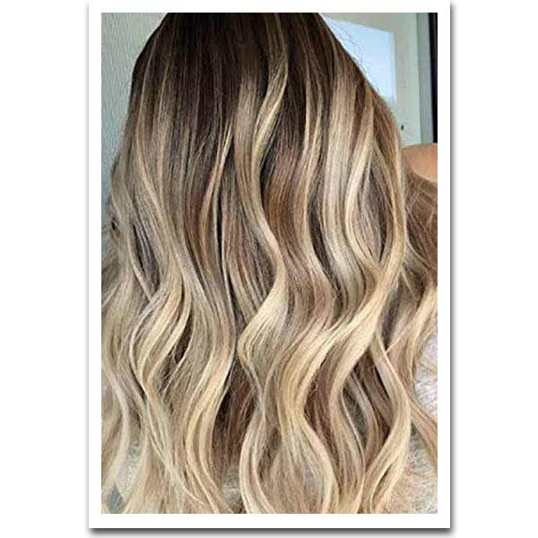 Seamless Clip In Remy Human Hair Extensions - Sombre Chestnut Brown-Beach Blonde - Mhot Hair