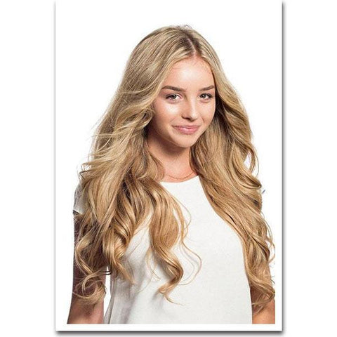 Tape In Remy Human Hair Extensions - Caramel Blonde
