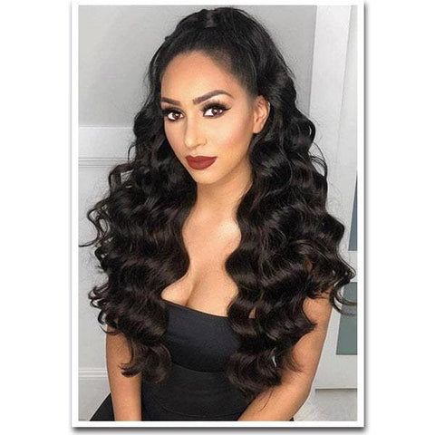Tape In Remy Human Hair Extensions - Off Black