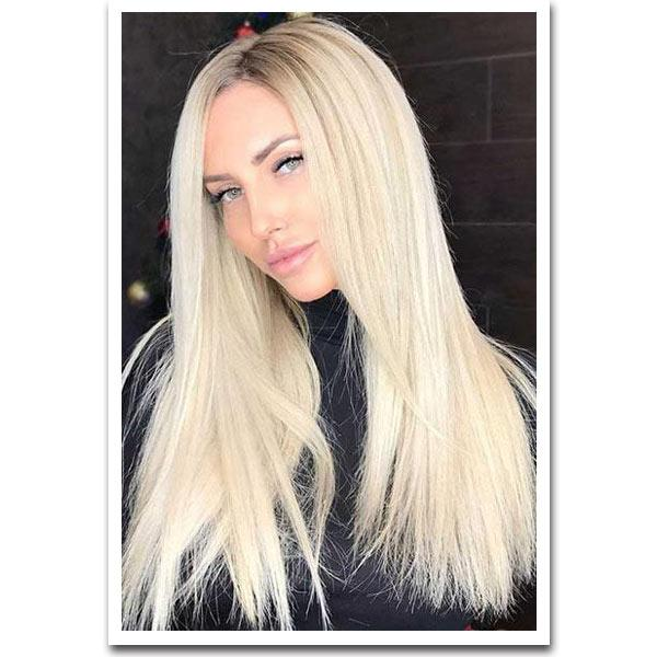 Tape In Remy Human Hair Extensions - Platinum Blonde - Mhot Hair