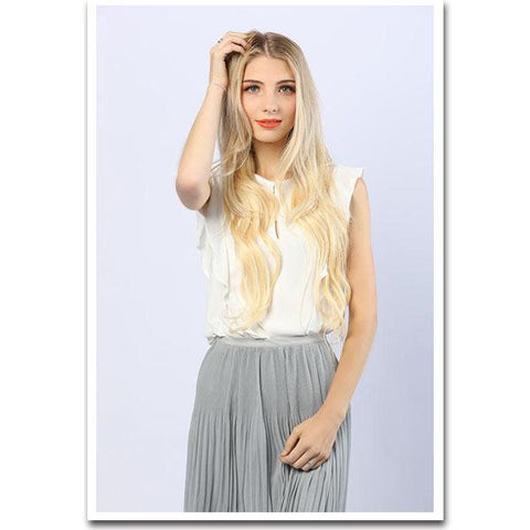 Tape In Remy Human Hair Extensions - Platinum Blonde
