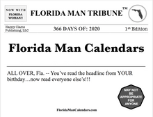 Load image into Gallery viewer, Florida Man Calendars