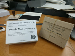 Custom made artisanal daily desk calendars