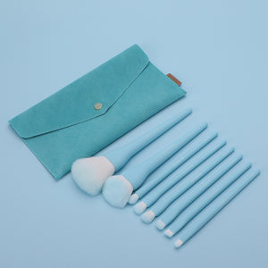 Soft Candy Color Makeup Brushes Set Of 8Pcs
