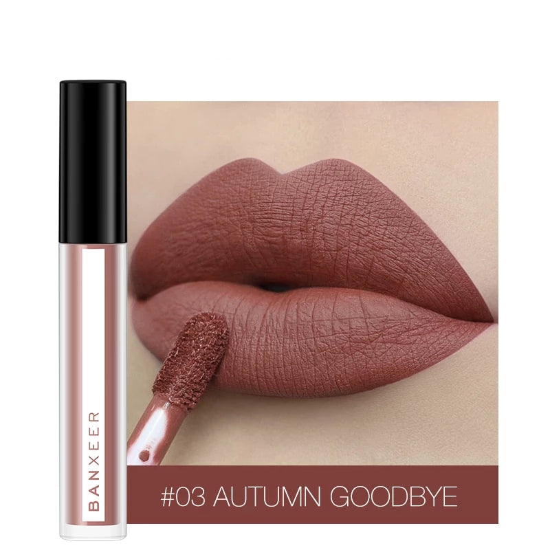 8 Colors Lip Gloss Velvety Lipstick Liquid Matte Waterproof Tint Cosmetic