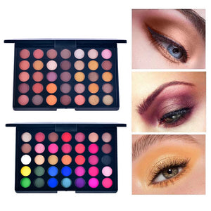 35 Colors Matte Eyeshadow Palette kit Glitter waterproof Professional