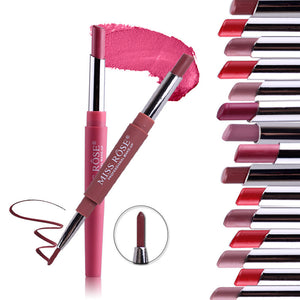 8 Colors Double-end Lip Liner Set Pencil Waterproof Tint Lipstick Kit