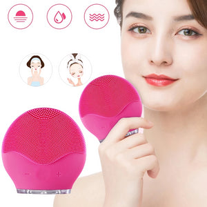 Face Cleansing Brush Electric Silicone Facial USB Rechargeable Massage