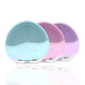 Mini Electric Sonic Facial Cleansing Brush Silicone Cleaner Scrubber