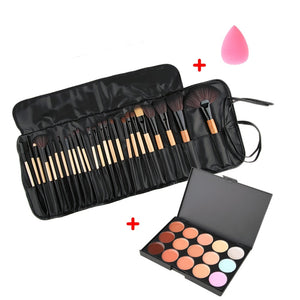Beauty Makeup Set Concealer Contour Platte Cosmetic Sponge Puff Brushes