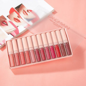 12 Pcs  Matte Lip Gloss Kit Liquid Lipstick Set Moisturizing Waterproof