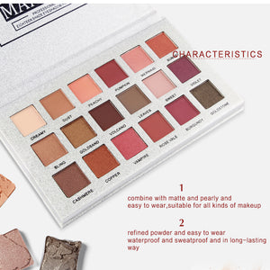 18 Colors Eyeshadow Palette Somkey Professional Matte Glitter Kit