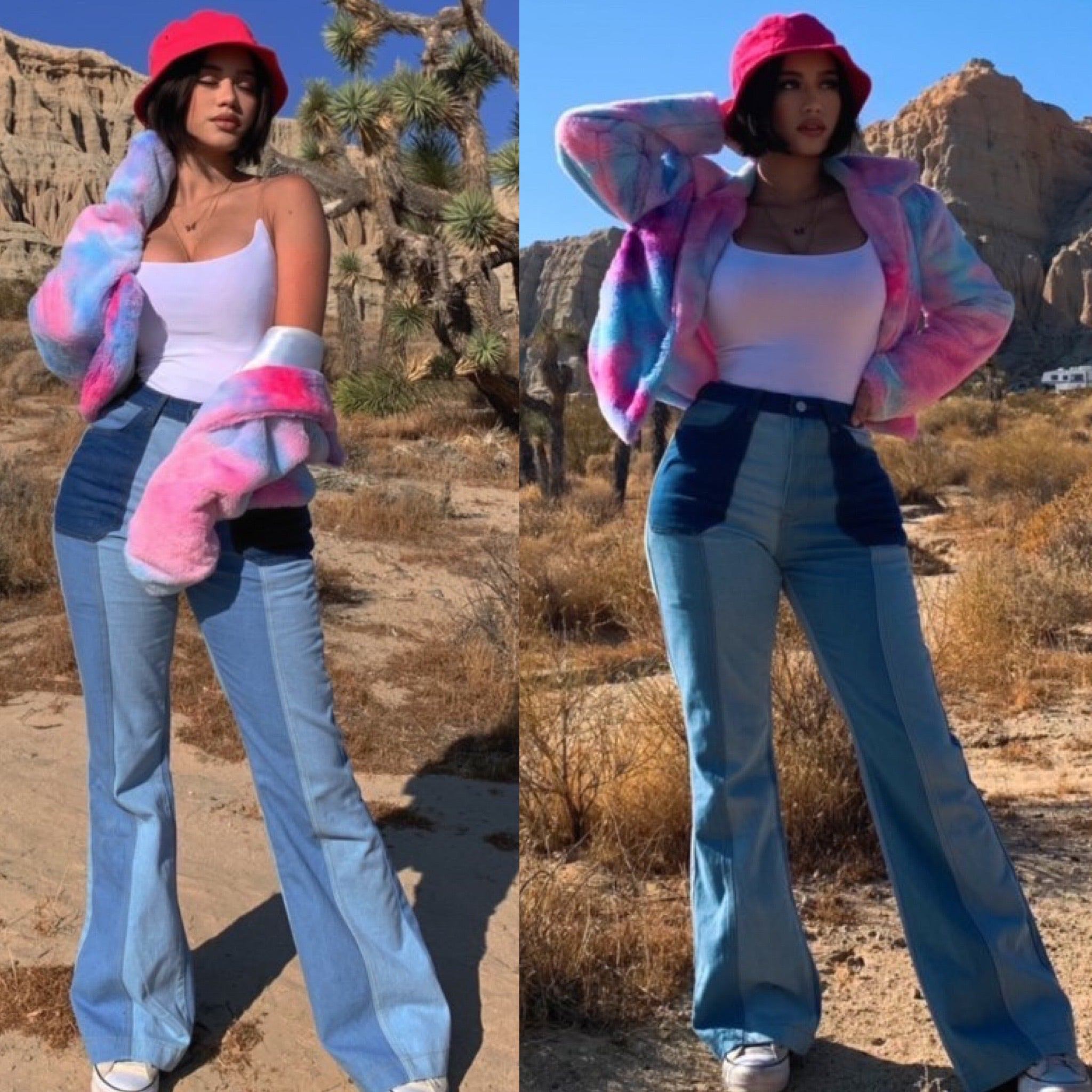 "The ""Cotton Candy"" Faux Fur Cropped Coat"
