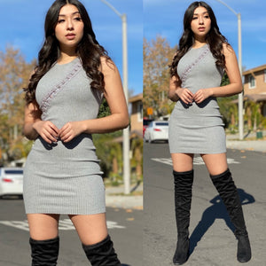 "The ""Janelle"" Ribbed Hook & Eye Dress"