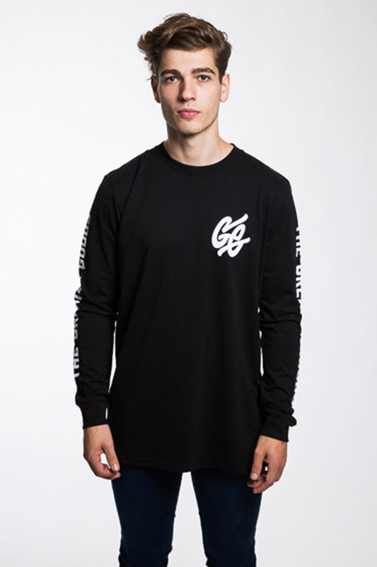 Long Sleeve Whirl Tee - Black