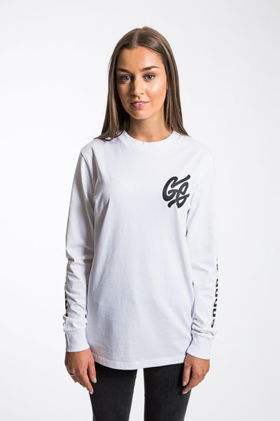 Long Sleeve Whirl Tee - White