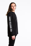 Friendship Cuffed Long Sleeve Tee - Black