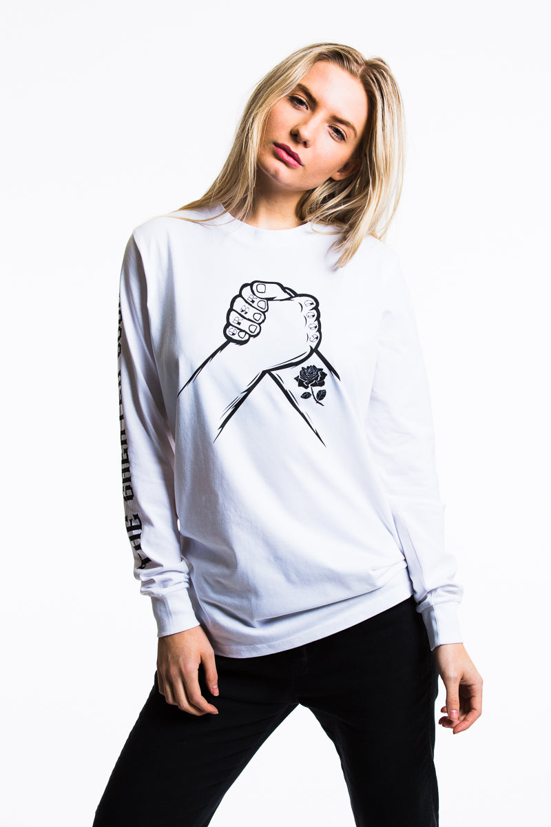Long Sleeve Friendship Tee - White