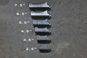 Selectable Length Shock mounts.