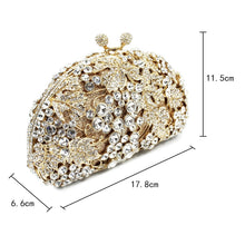 Load image into Gallery viewer, Grape Vine Crystal Clutch