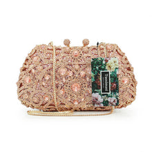 Load image into Gallery viewer, Floral Crystal Clutch