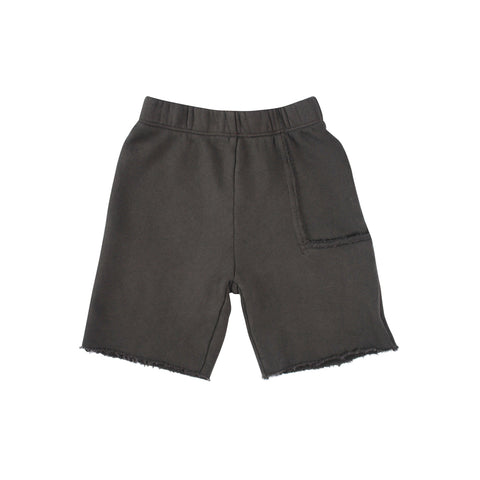 Del Mar Pkt Shorts - Charcoal (fleece) - Mimobee