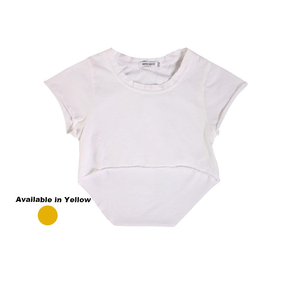 Chillers Crop Tee - White - Mimobee