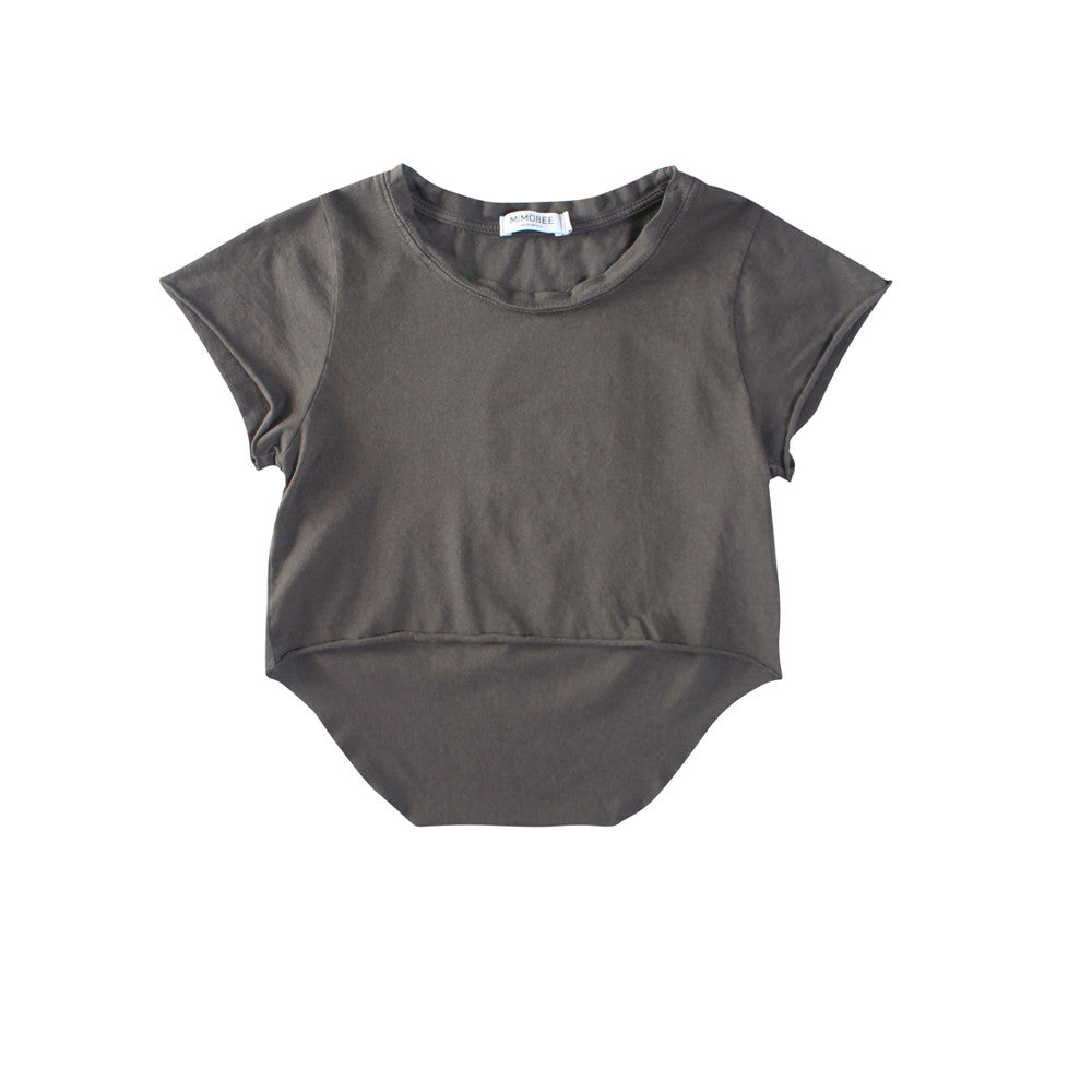 Chillers Crop Tee - Charcoal