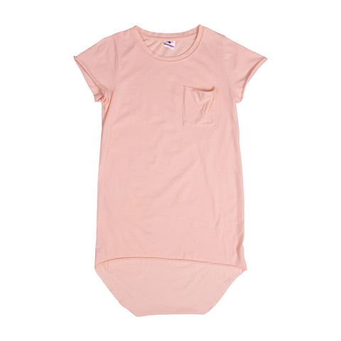 Chiller Tail Tee Dress - Peach