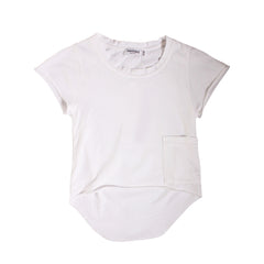 Chillers Tail Back Tee - White