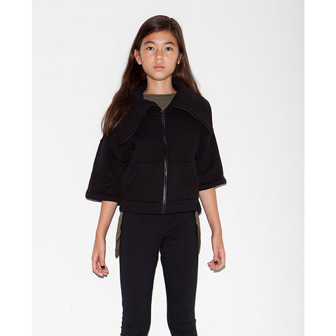 Melrose Crop Jacket - Black - Mimobee