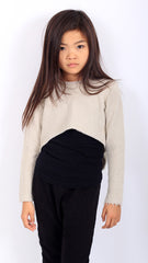 Sassy Crop Sweat - Pebble - Mimobee