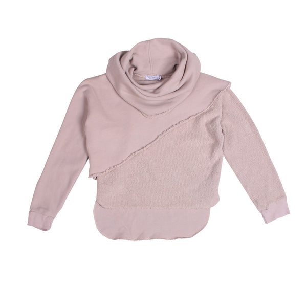 Cutaway Layered Sweat - Cloudy Grey