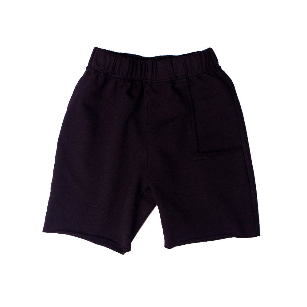 Del Mar Pkt Shorts - Black (F.Terry) - Mimobee