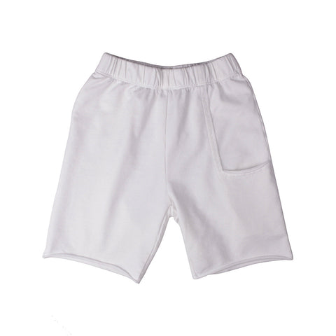 Del Mar Pkt Shorts - White (F.Terry) - Mimobee