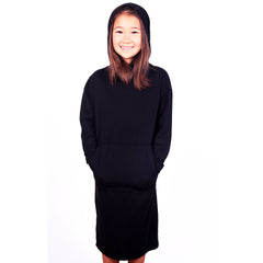 Hoodie Dress - Black - Mimobee