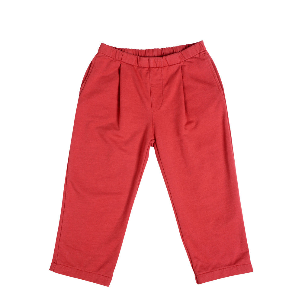 Lolo Pleat Pants - Chalk Red