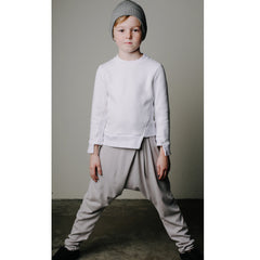 Loosey Goose Pleat Pants -  Cloudy Grey - Mimobee