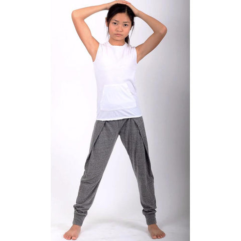 Mega Pleat Pants - Heather Grey - Mimobee