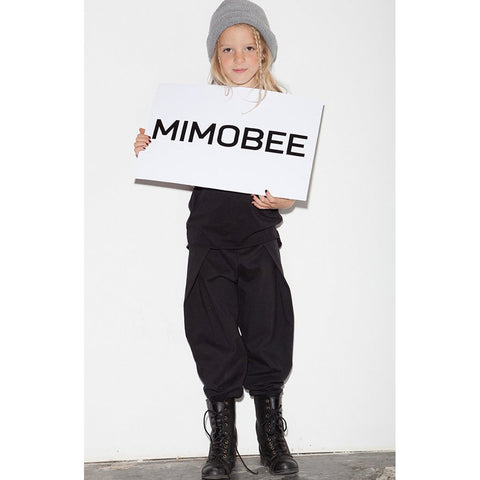 Mega Pleat Pants - Black - Mimobee