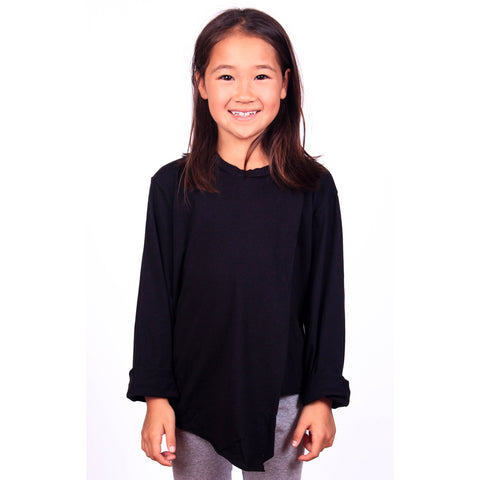 Po Big Pleat Tee - Black - Mimobee