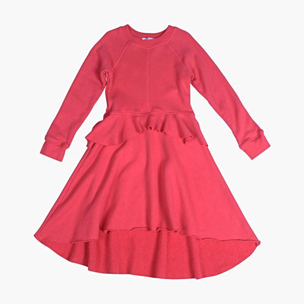 Poppy Peplum Dress - Berry Berry