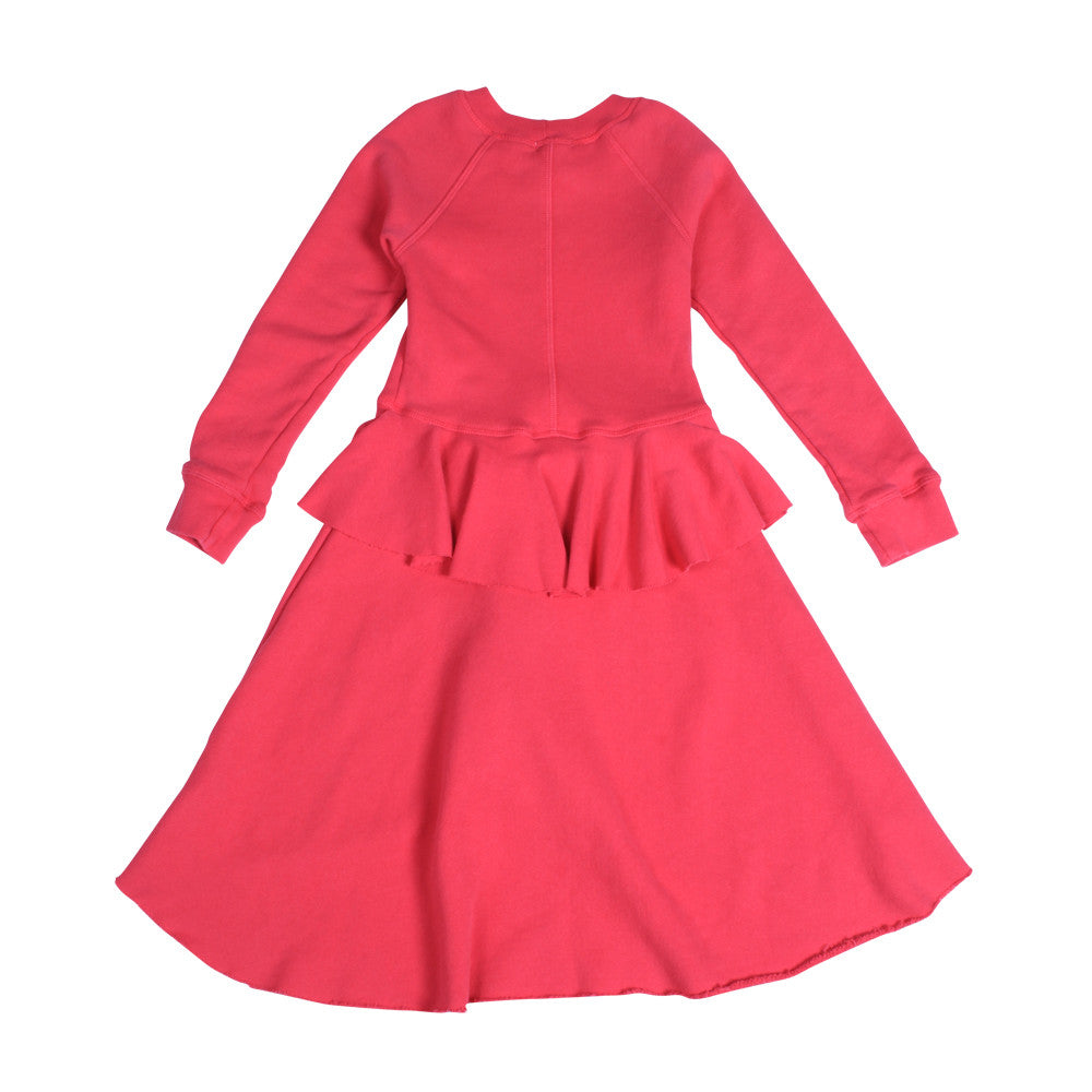 Poppy Peplum Dress - Berry Berry - Mimobee