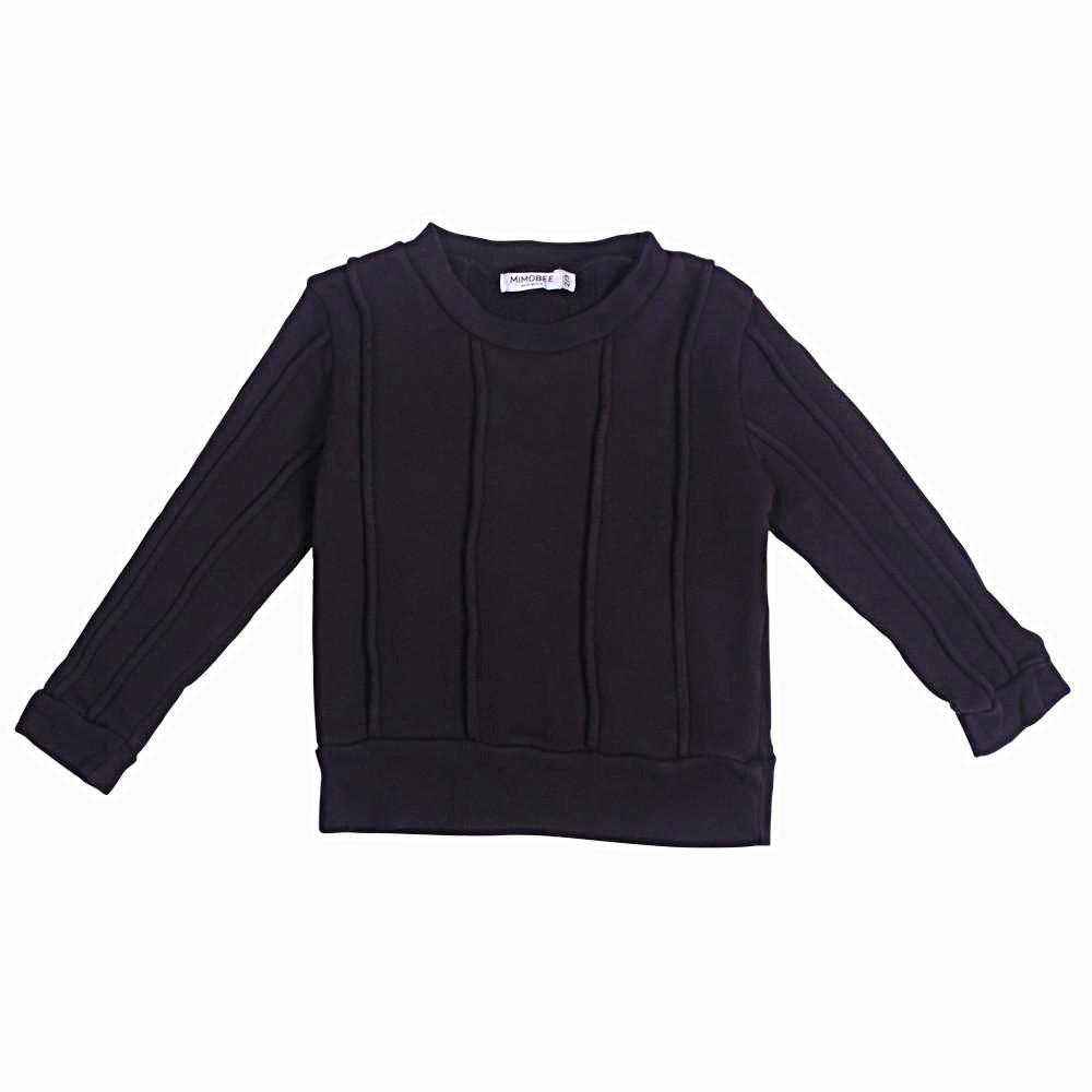 Rugger Piped Sweat - Black - Mimobee