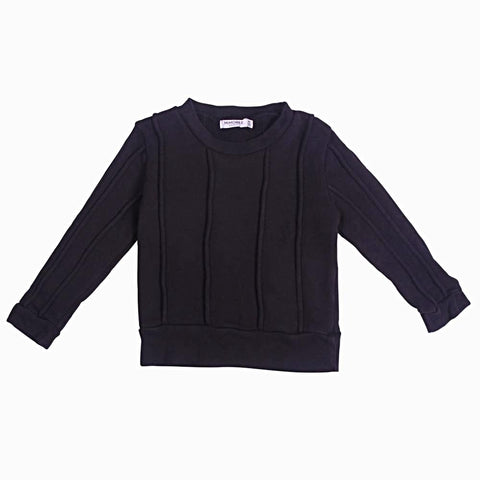 Rugger Piped Sweat - Black