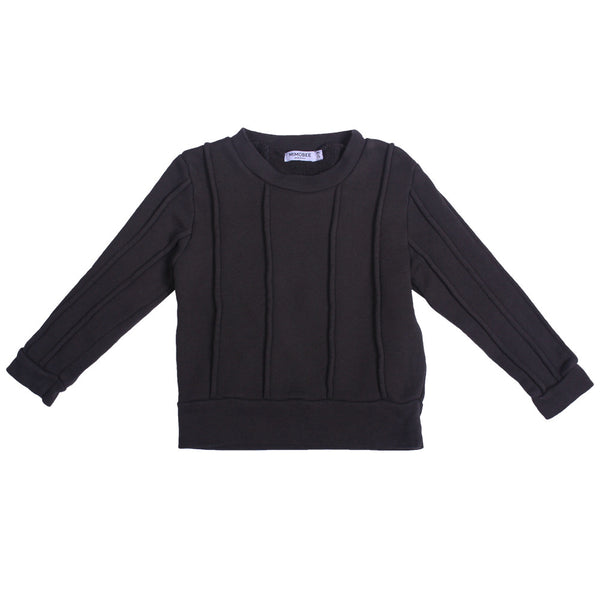 Rugger Piped Sweat - Charcoal