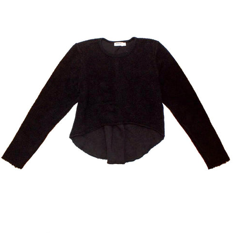 Sassy Crop Sweat - Black - Mimobee