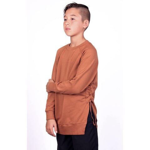 Side Strap Sweat - Leather Brown