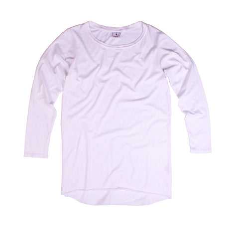 Slouchy LS Tee - White