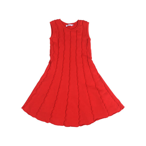 Soho Panel Dress - Racing Red - Mimobee